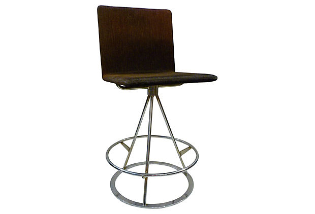 Vintage Saporiti Chrome Stool.jpg